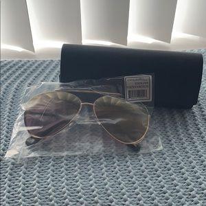 new BCBG gold aviator sunglasses
